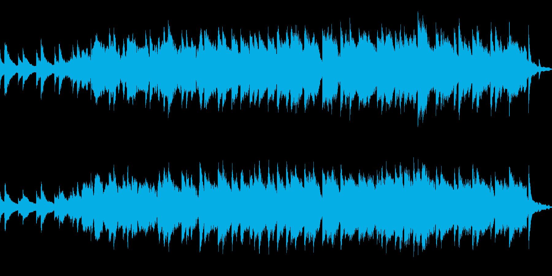 空虚〜物悲しく静かでゆったりとした曲の再生済みの波形