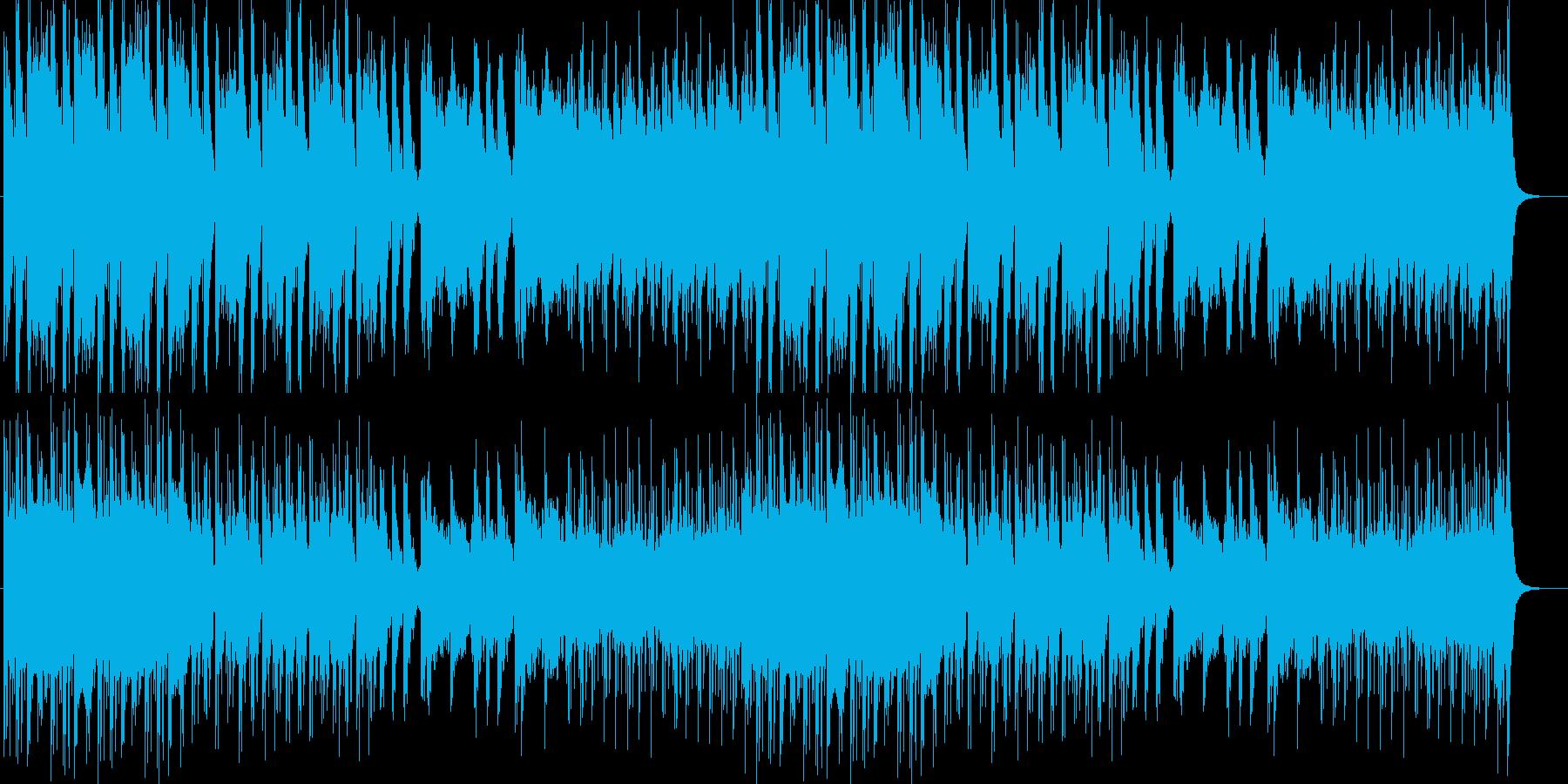 激しくて、不気味さがある楽曲の再生済みの波形