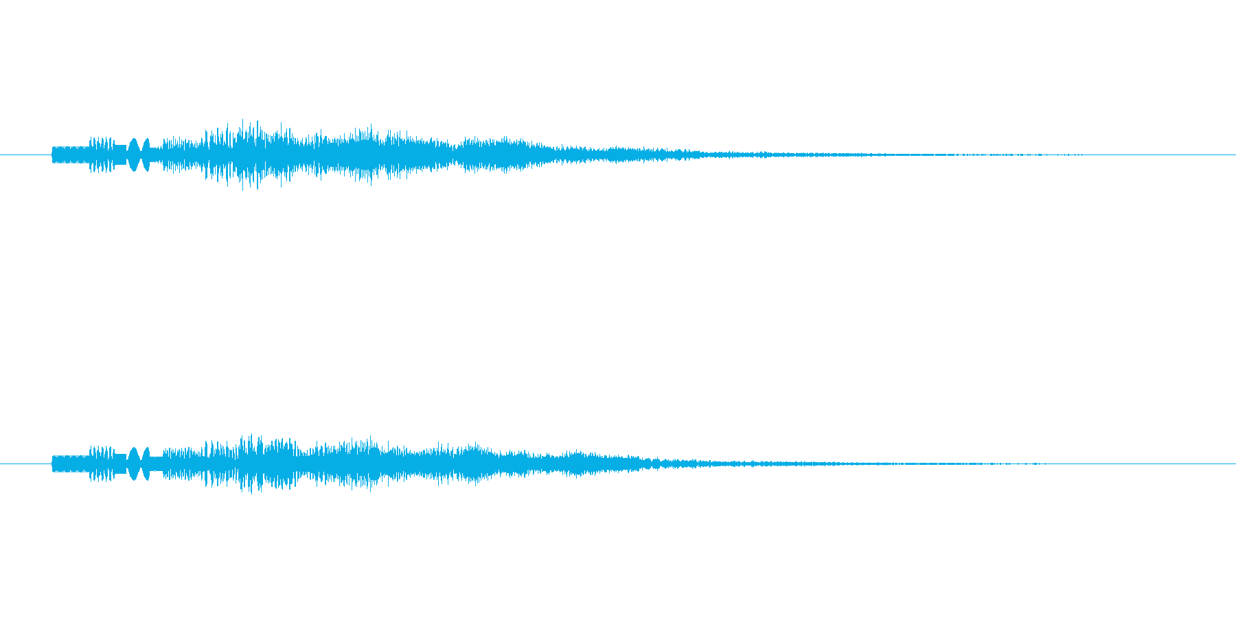ピロピロピロピロッ↑(PC起動、決定音)の再生済みの波形