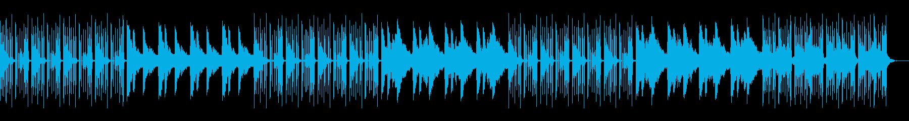 クールでミステリアスなヒップホップ風リフの再生済みの波形
