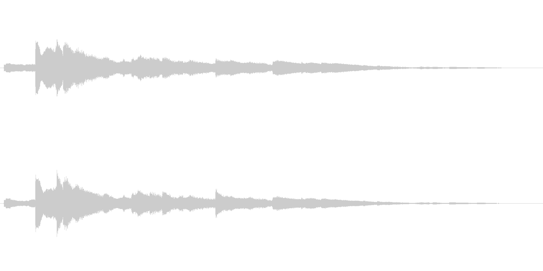 キラキラとした音色のウインドチャイムの未再生の波形