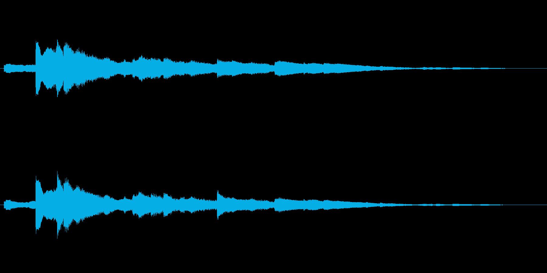 キラキラとした音色のウインドチャイムの再生済みの波形