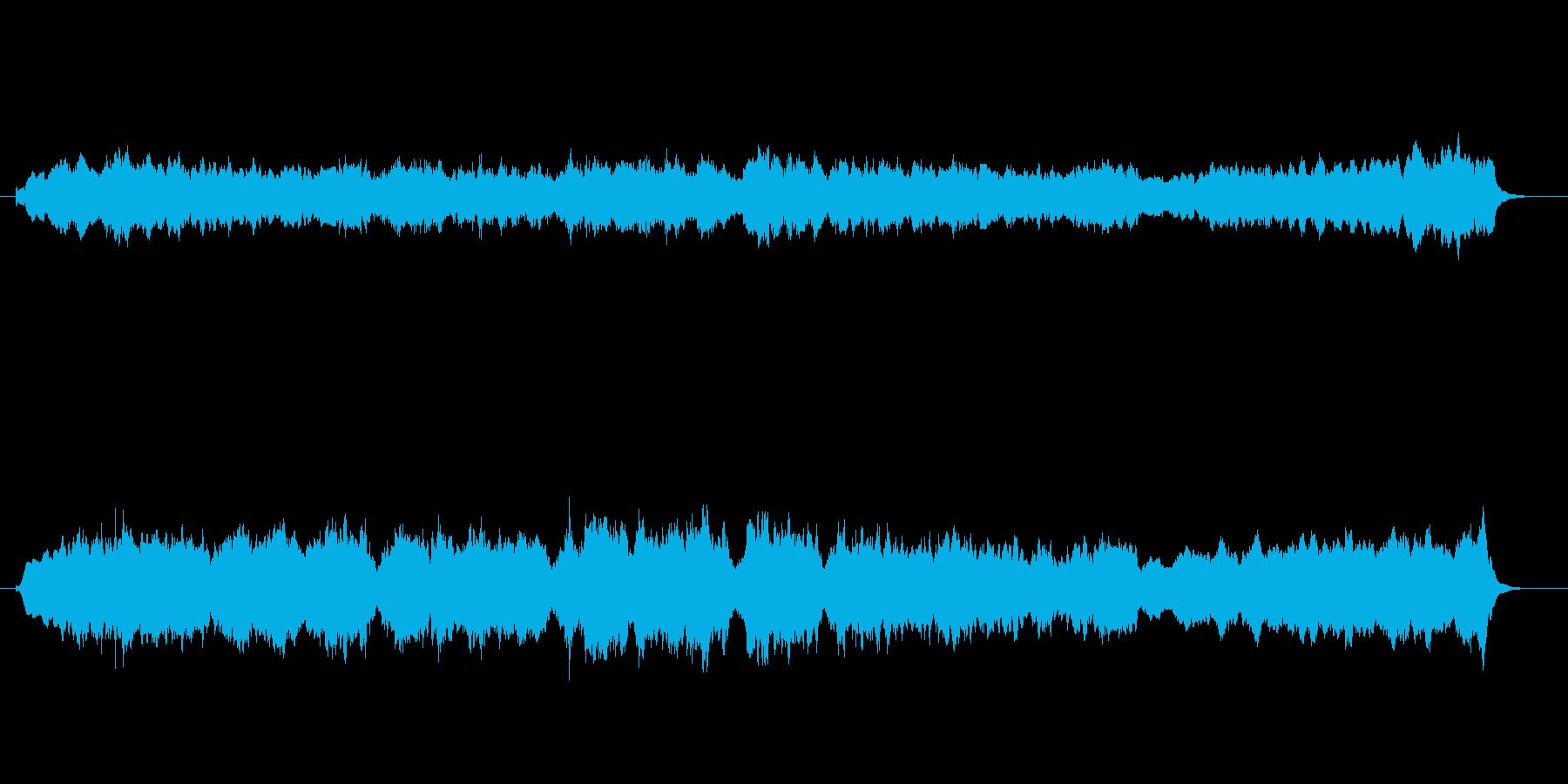 雄大な環境音楽風の再生済みの波形