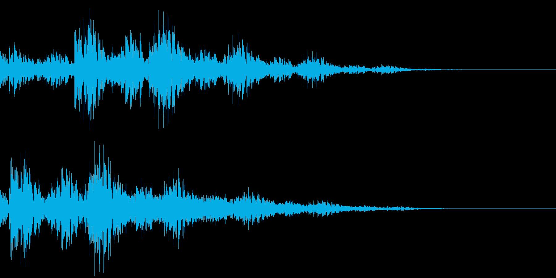 ファンタジー音01の再生済みの波形