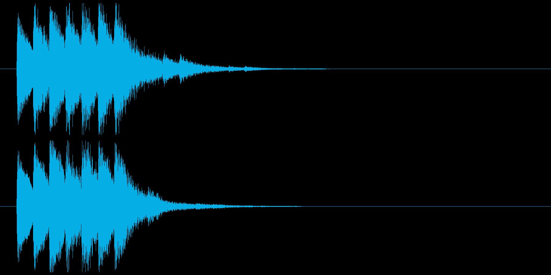 エスニックな効果音の再生済みの波形