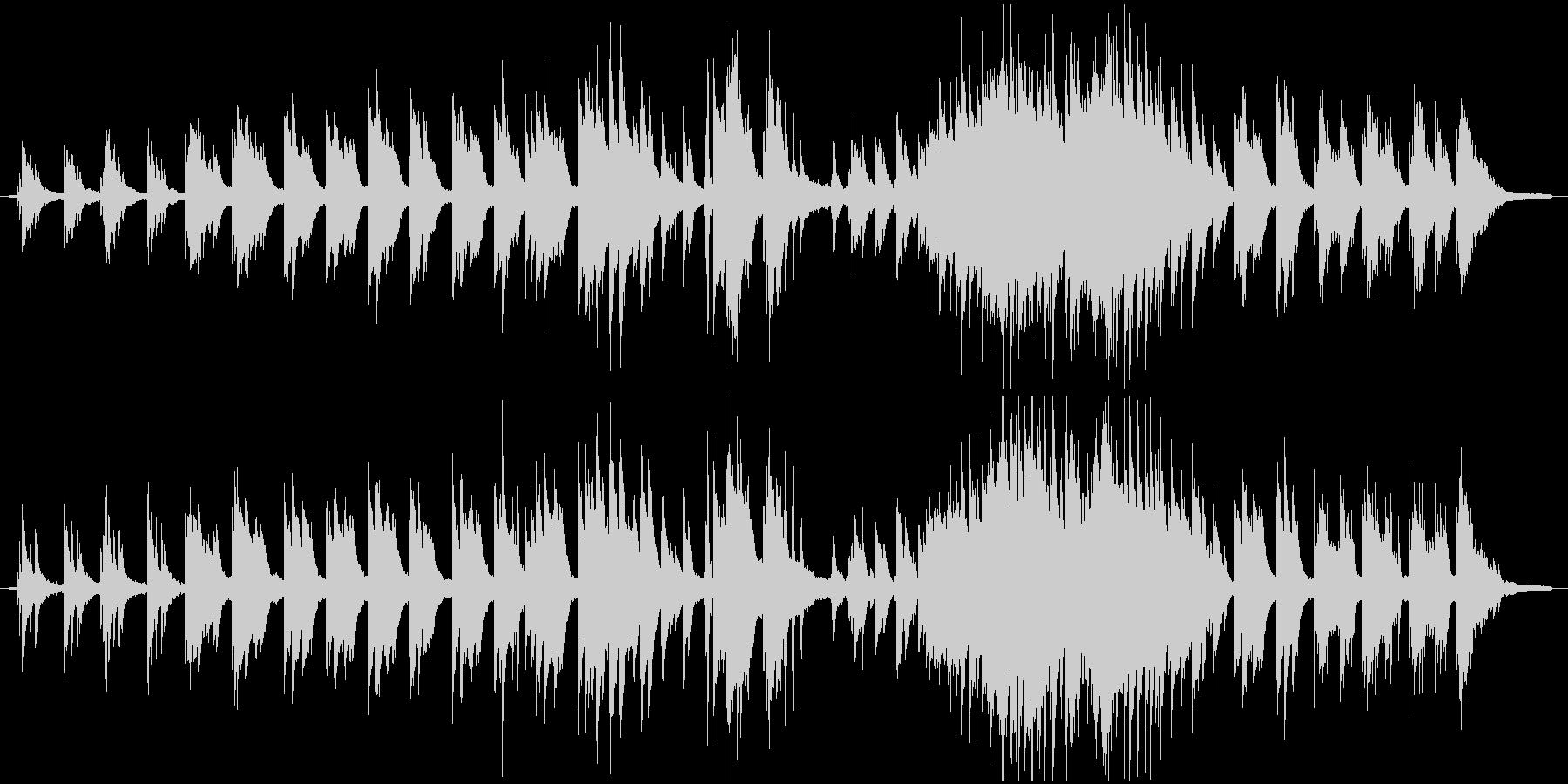 静かに強く思いを馳せるバラード(伴奏)の未再生の波形