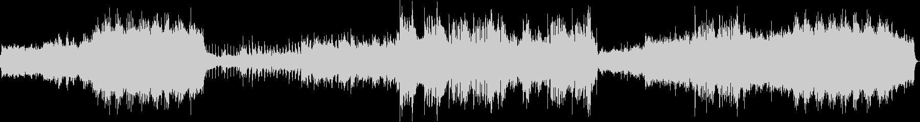 オルガンの教会音楽からのバラードの未再生の波形