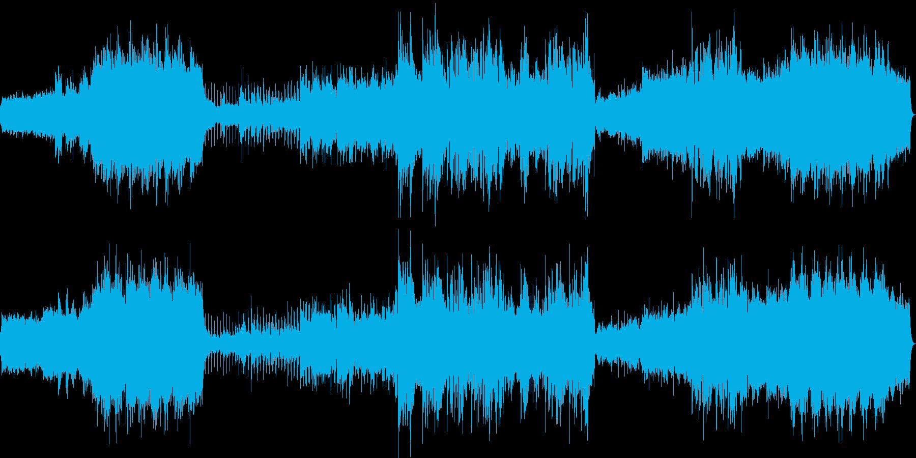 オルガンの教会音楽からのバラードの再生済みの波形