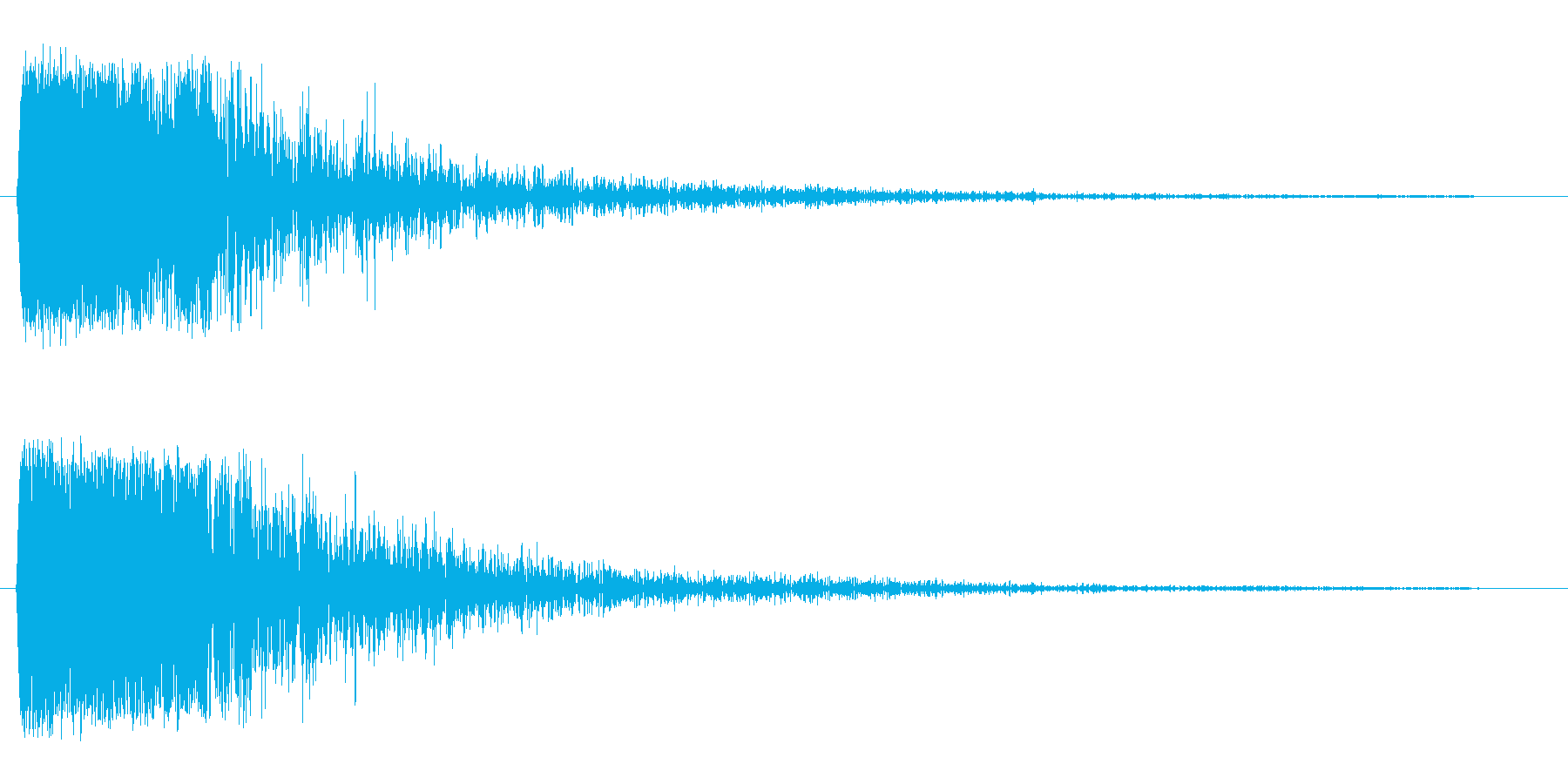 ガン・・・(大きめの金属缶を叩いた音)の再生済みの波形
