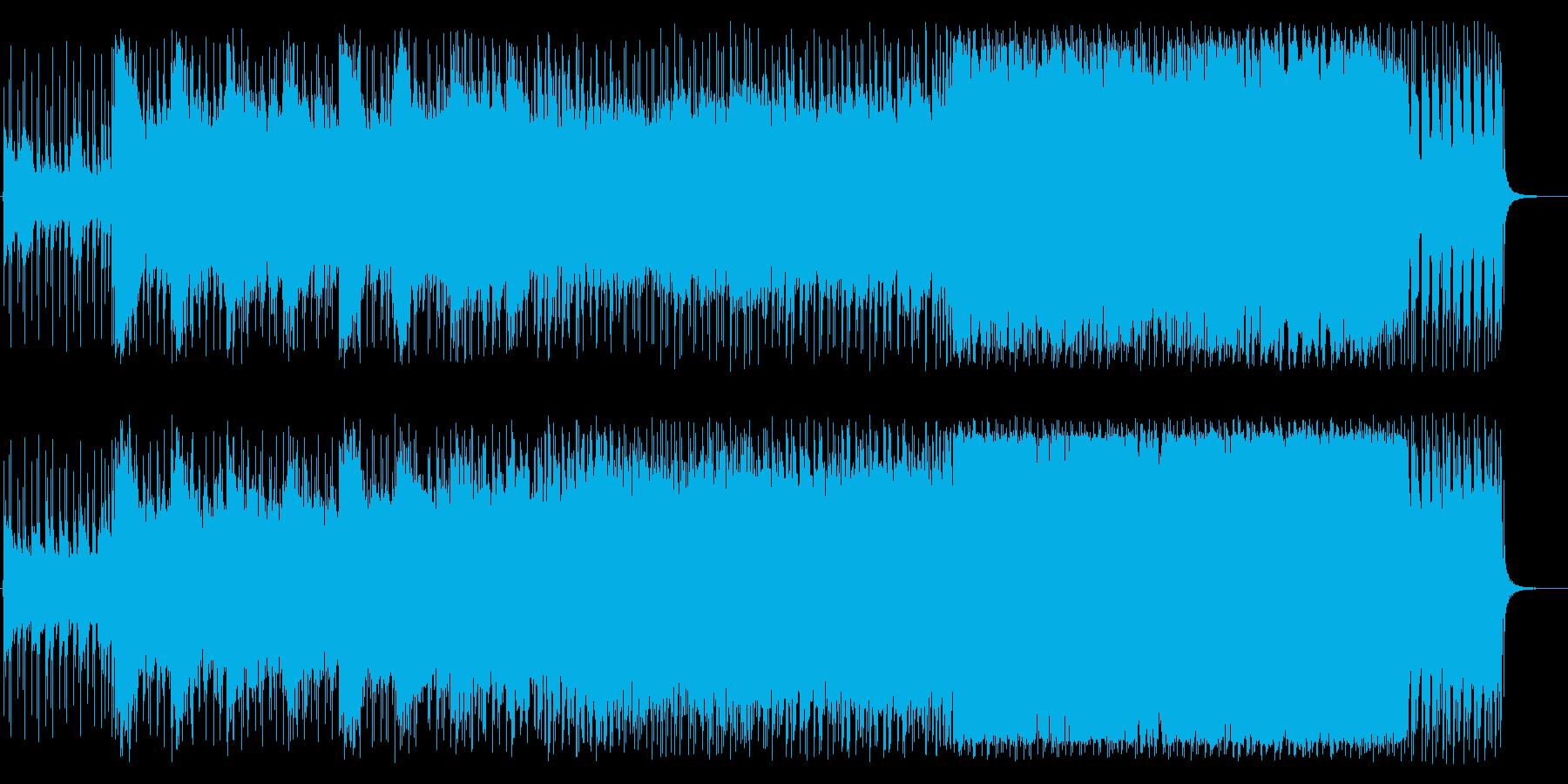 爽やかで疾走感のあるロックの再生済みの波形
