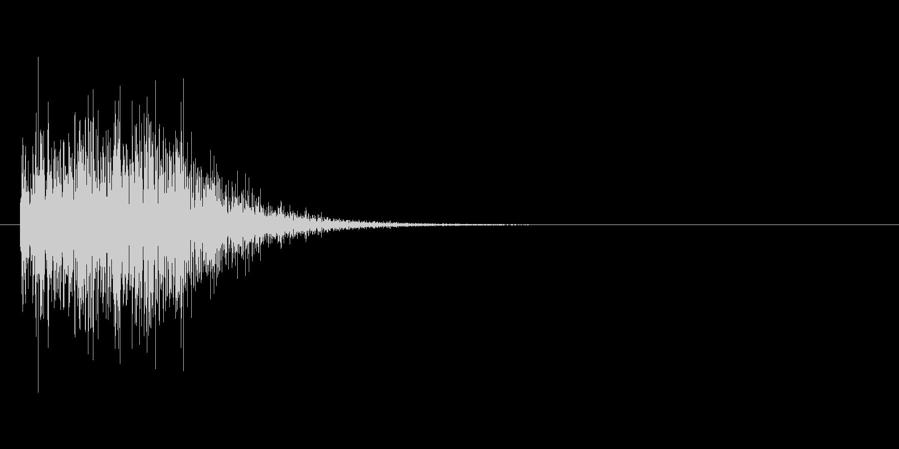回転ジャンプした時の効果音の未再生の波形