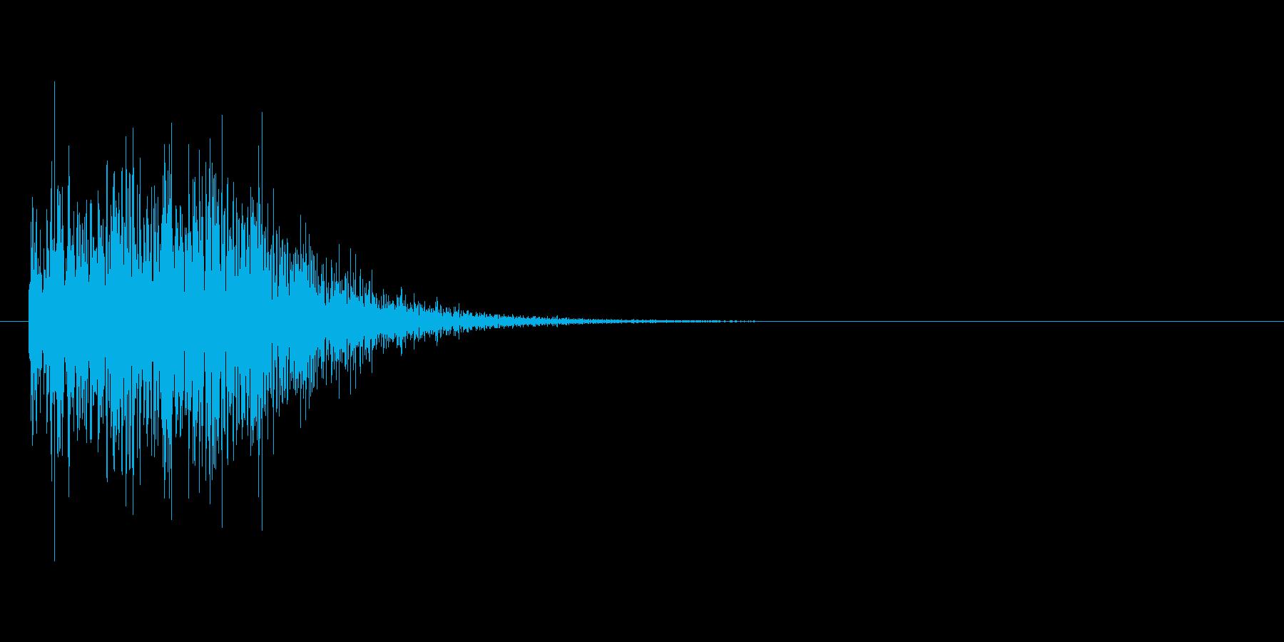 回転ジャンプした時の効果音の再生済みの波形