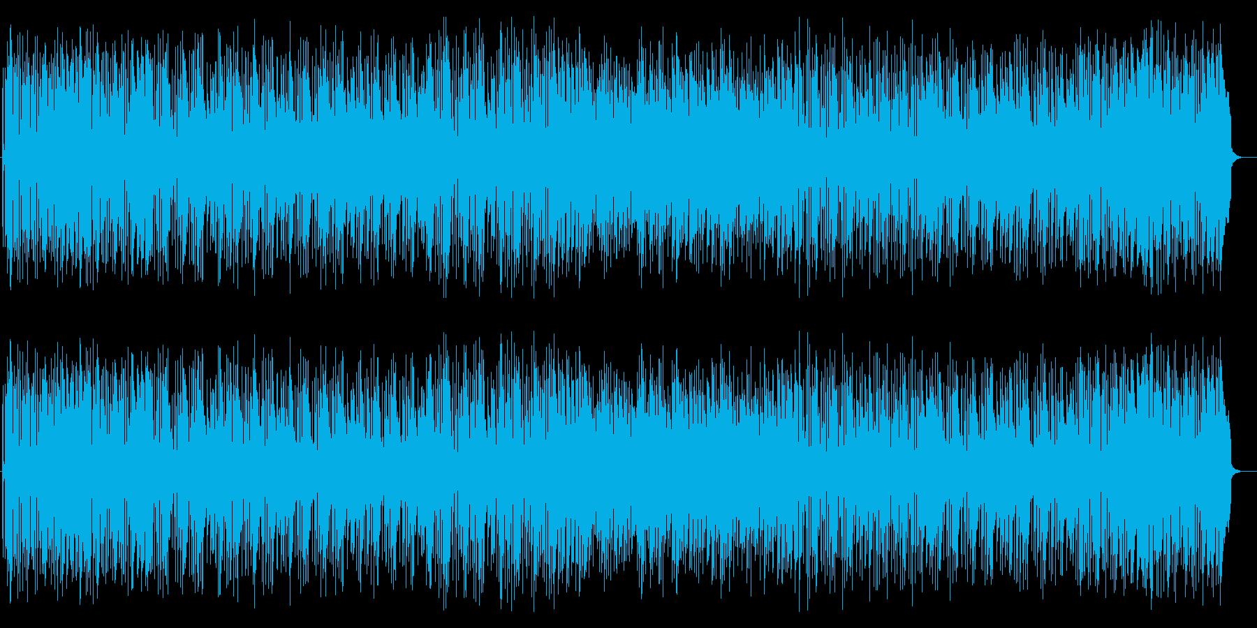 ほのぼのしたシンセサイザー打楽器などの曲の再生済みの波形