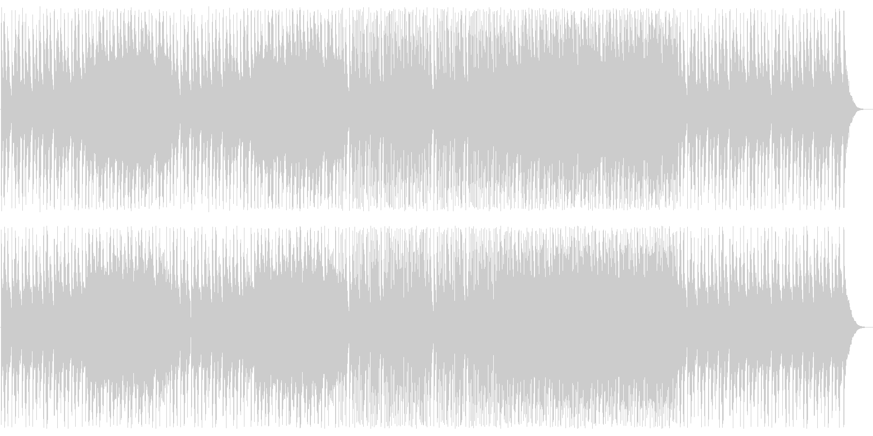 アジアンな高音のシンセサイザーの曲の未再生の波形