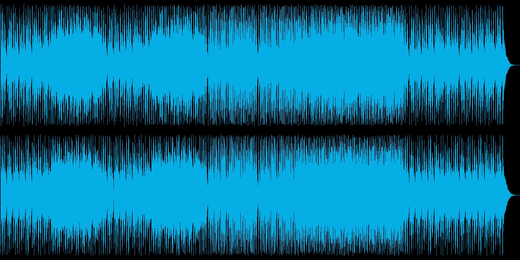 アジアンな高音のシンセサイザーの曲の再生済みの波形