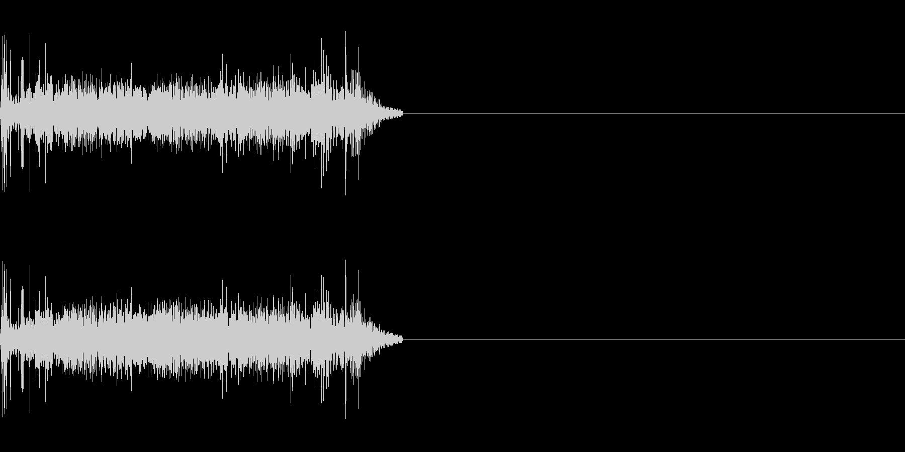 シンプルな機械音の未再生の波形