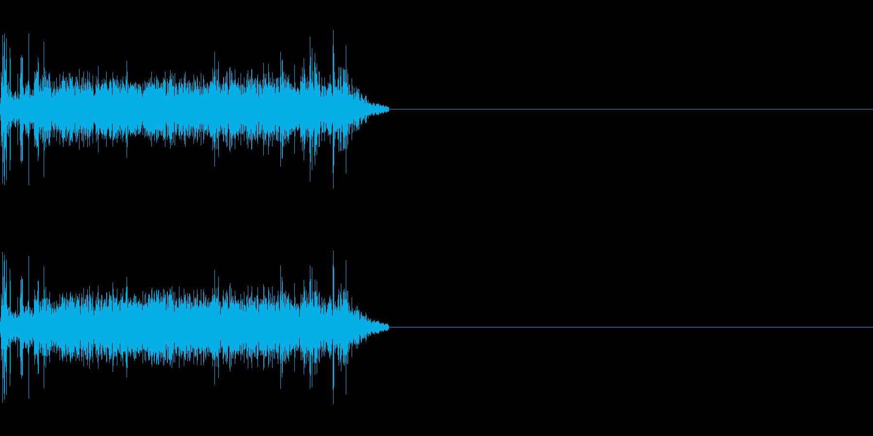 シンプルな機械音の再生済みの波形