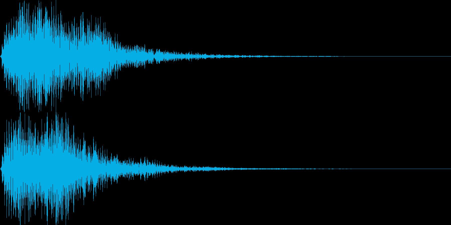 ホラーシーンなどで良く聞く音です。の再生済みの波形