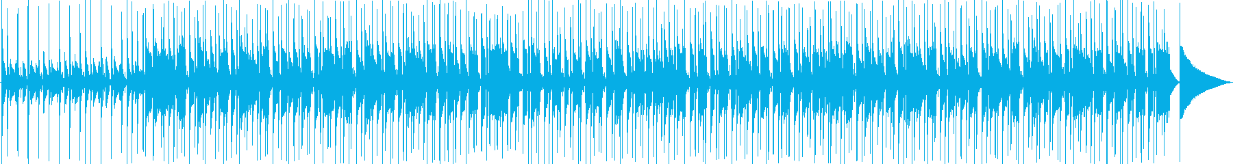 キラキラした鉄琴とギターのノリのいい曲の再生済みの波形