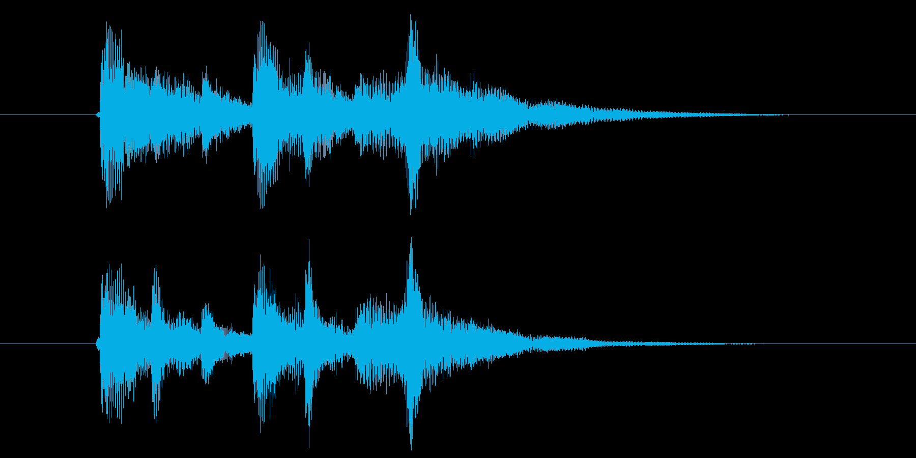 ビブラフォンが重なり合う深みあるポップスの再生済みの波形