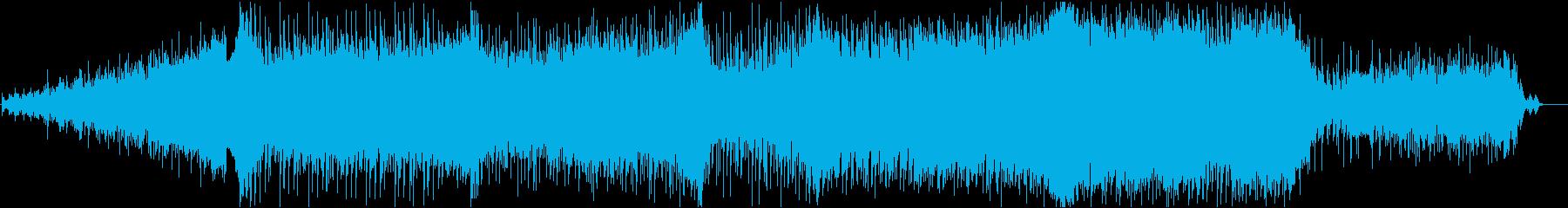 シンセとオーケストラの壮大な映画的音楽の再生済みの波形