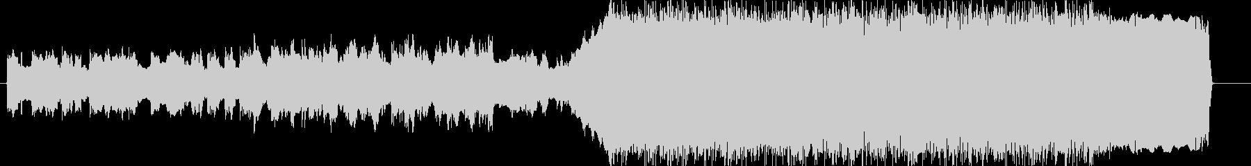 メタル KORN風 盛り上がるイントロの未再生の波形