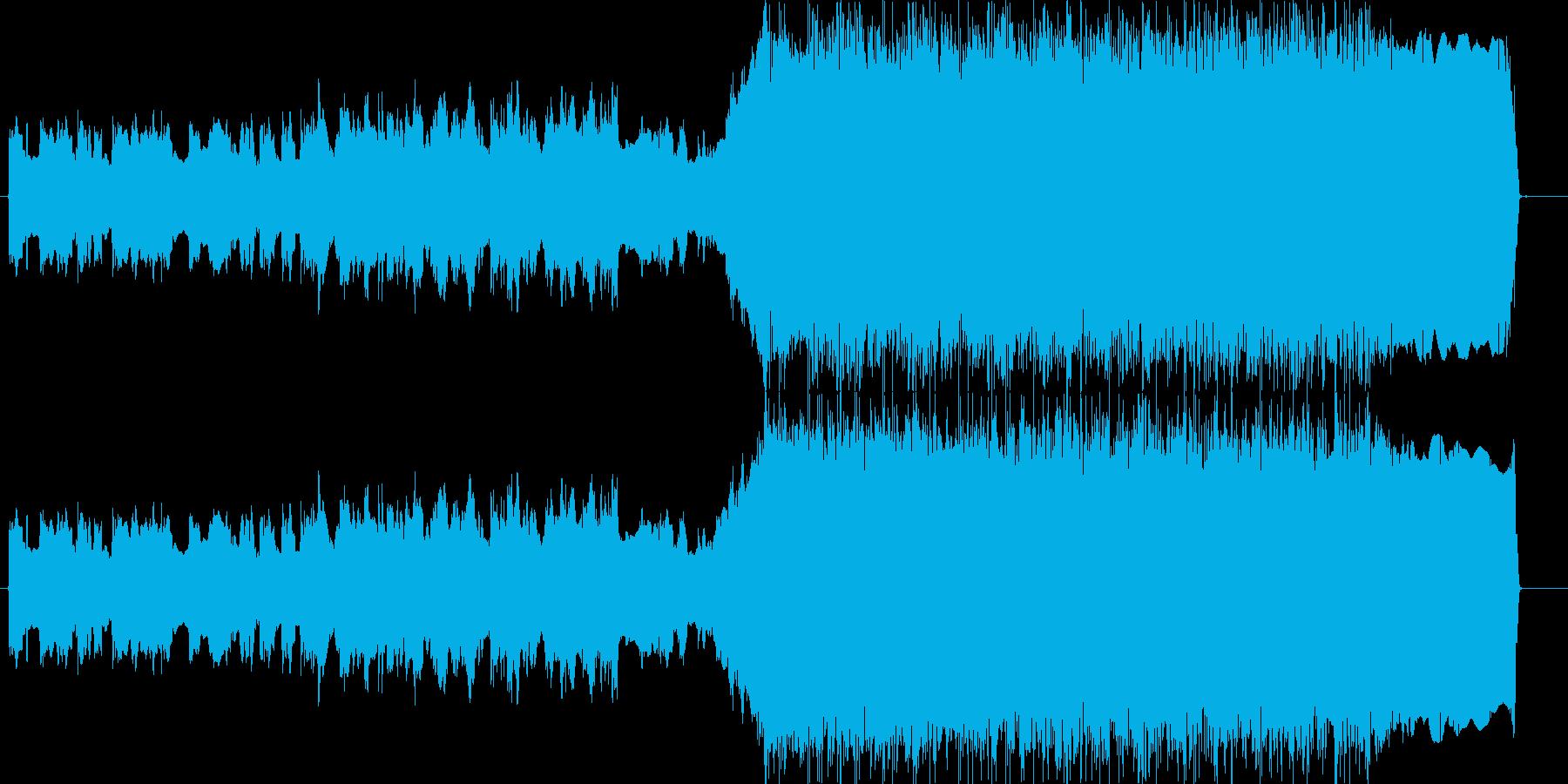 メタル KORN風 盛り上がるイントロの再生済みの波形