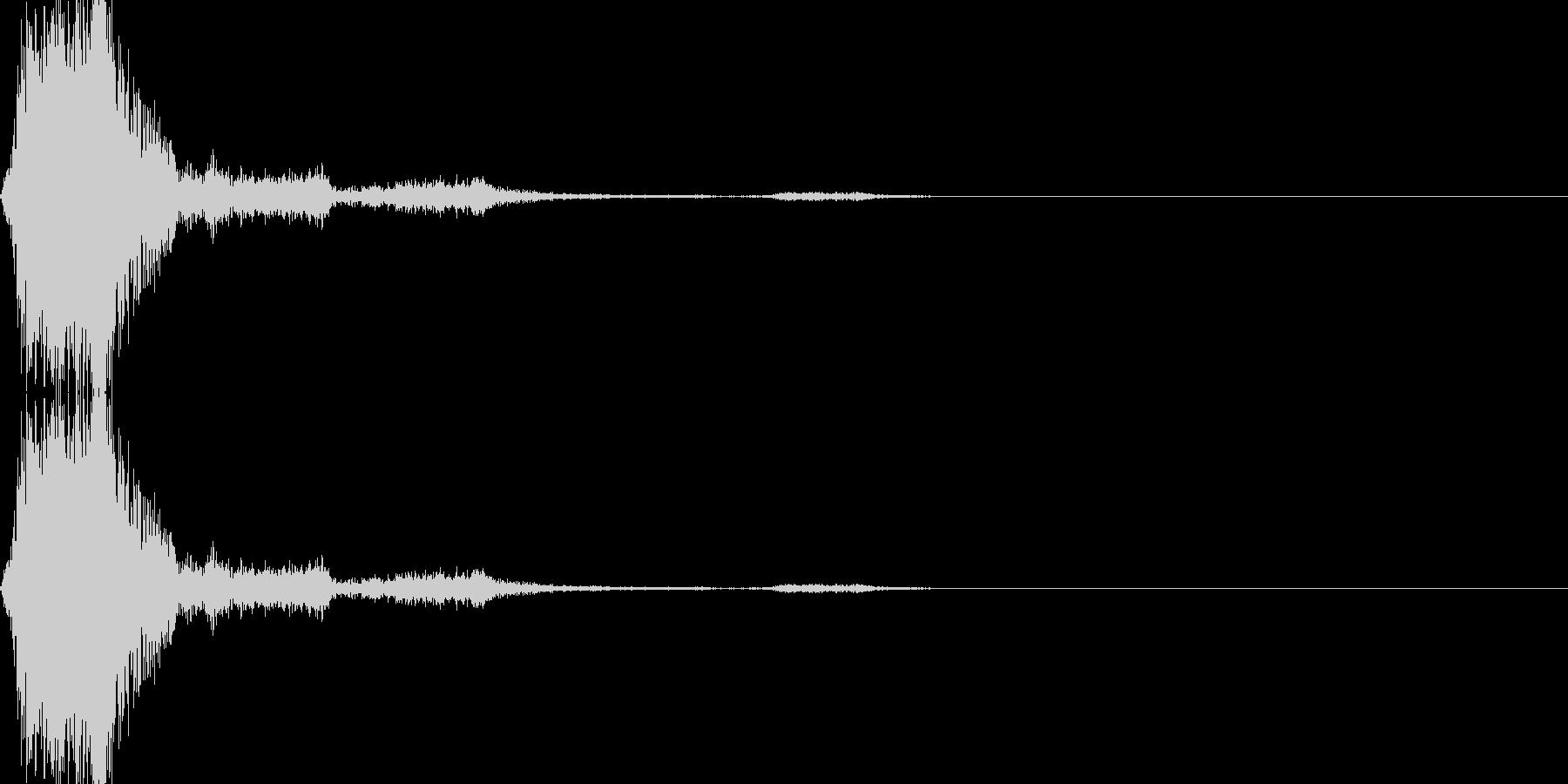 シューティングゲームのショット音(固め)の未再生の波形
