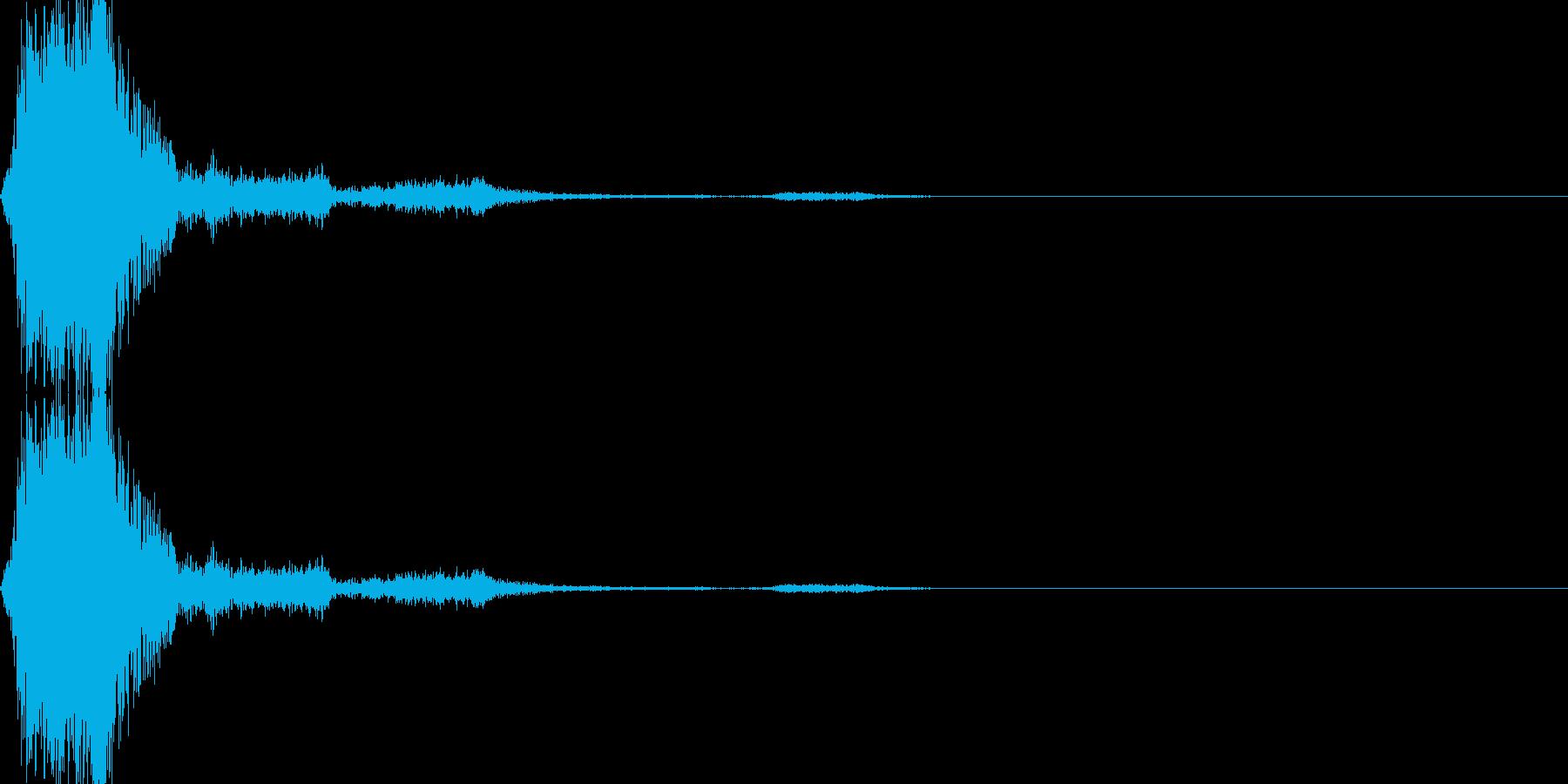 シューティングゲームのショット音(固め)の再生済みの波形