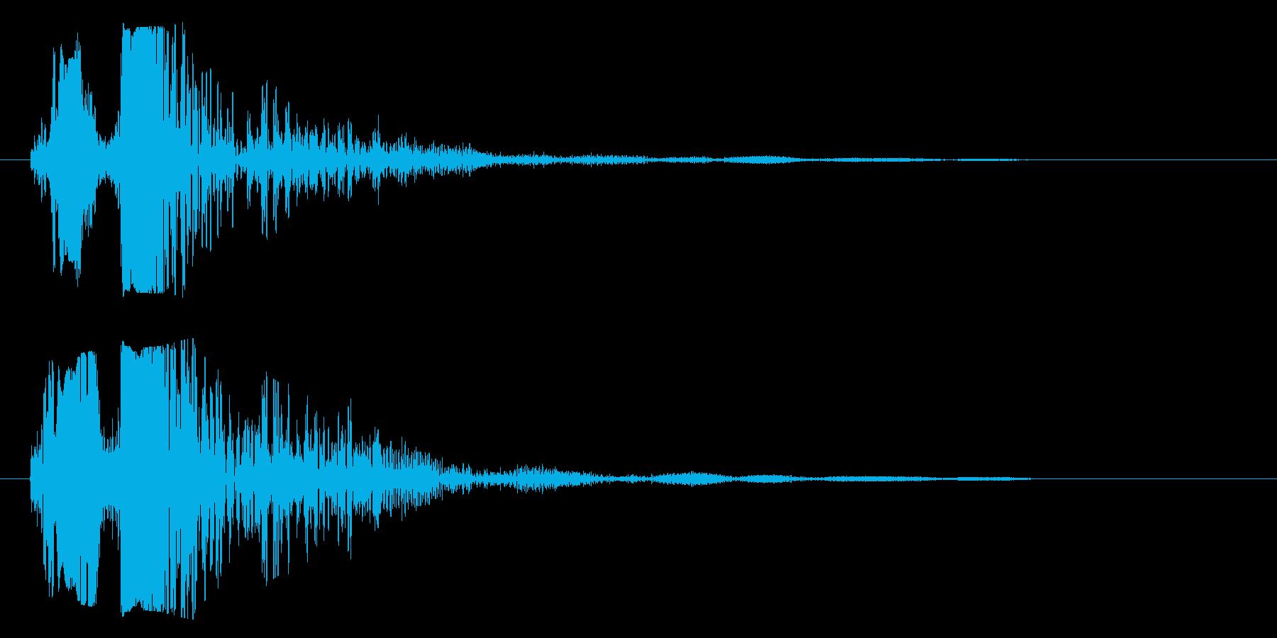 バシャッ(重ためのシャッター音)の再生済みの波形