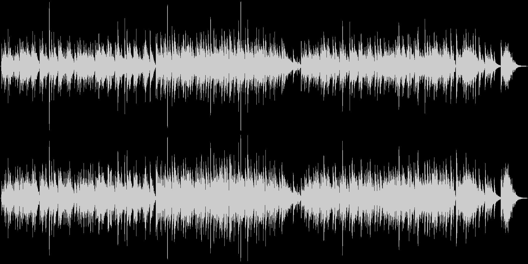 ギターデュオの生演奏による感動的な曲の未再生の波形
