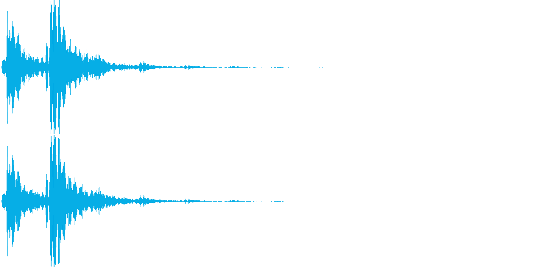 恐怖音03(鈴)の再生済みの波形