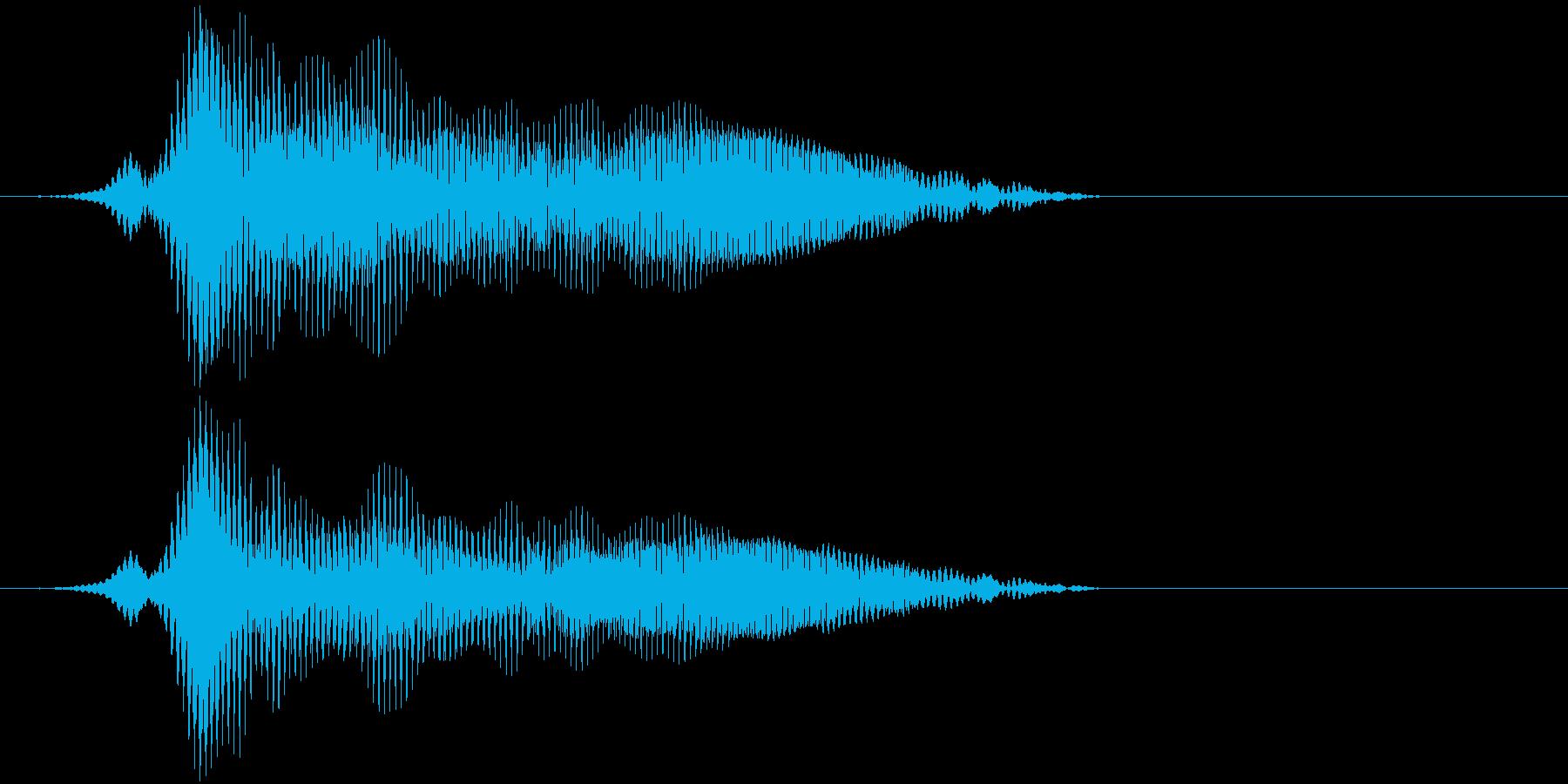 「猫の鳴き声006」なーおの再生済みの波形