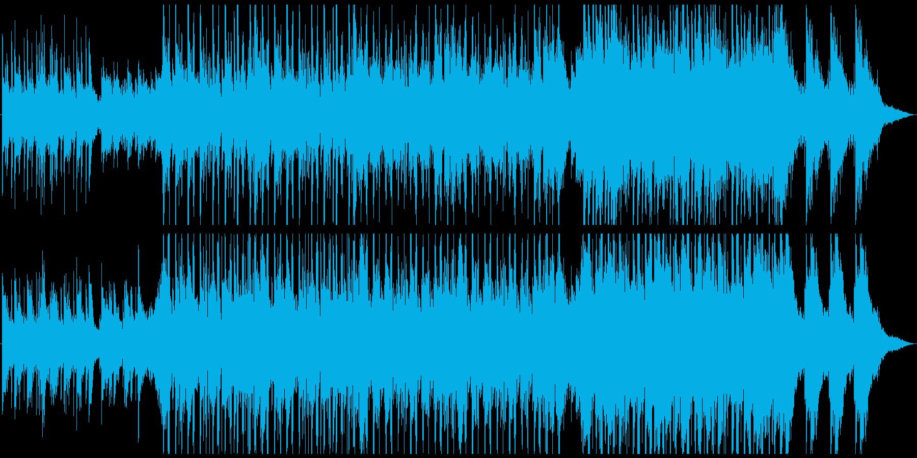 ピアノとギターのキラキラした明るい曲の再生済みの波形