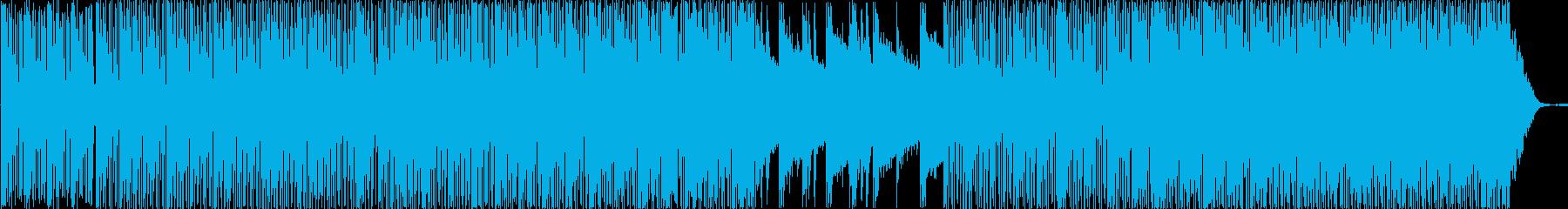 ピアノが印象的なハウステイストBGMの再生済みの波形