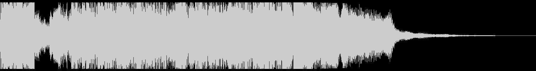 RPG戦闘勝利オーケストラファンファーレの未再生の波形