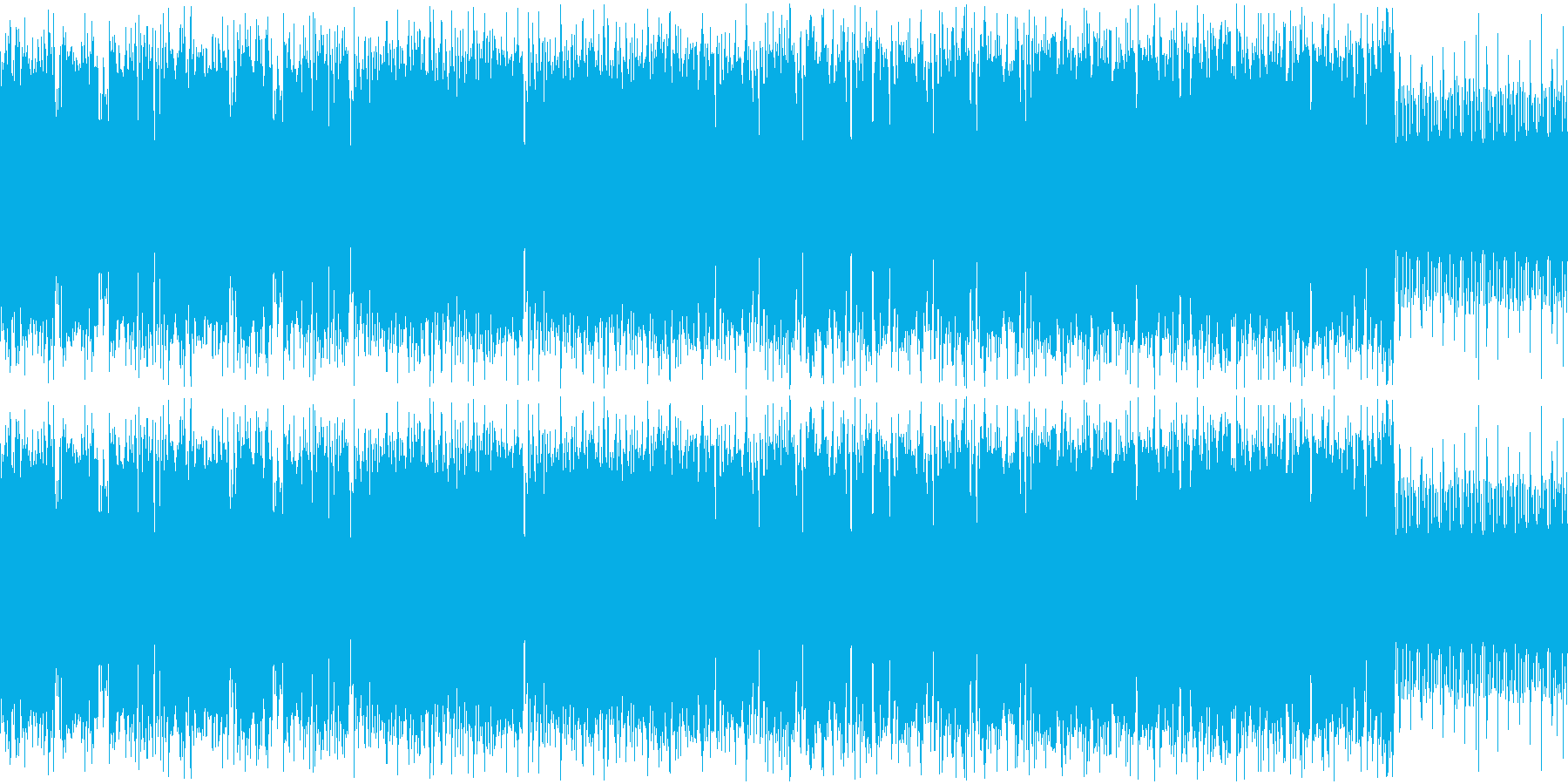 疾走感のあるレトロゲー風戦闘音楽の再生済みの波形