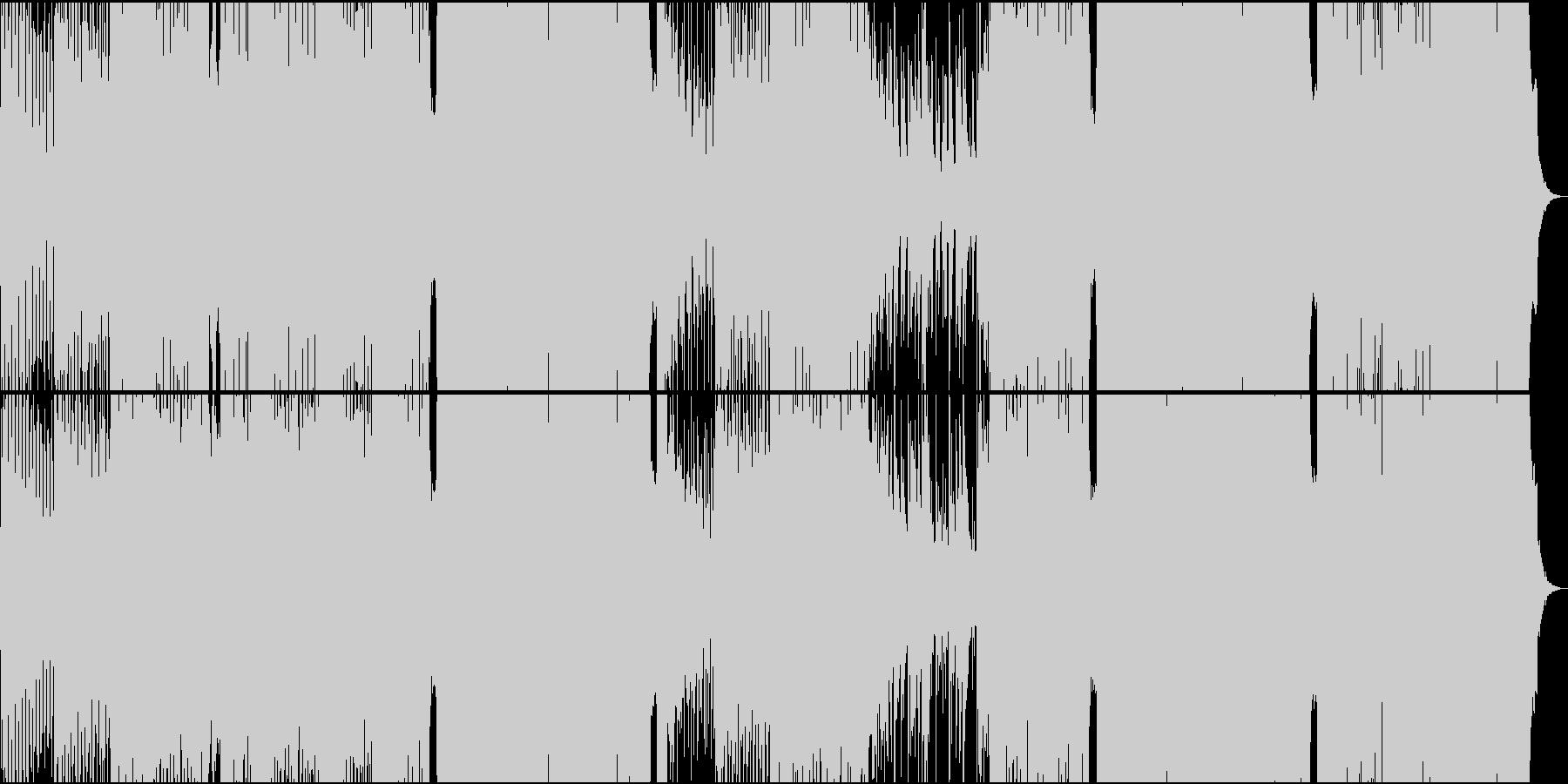 琴・尺八・三味線・シンセによる和風EDMの未再生の波形