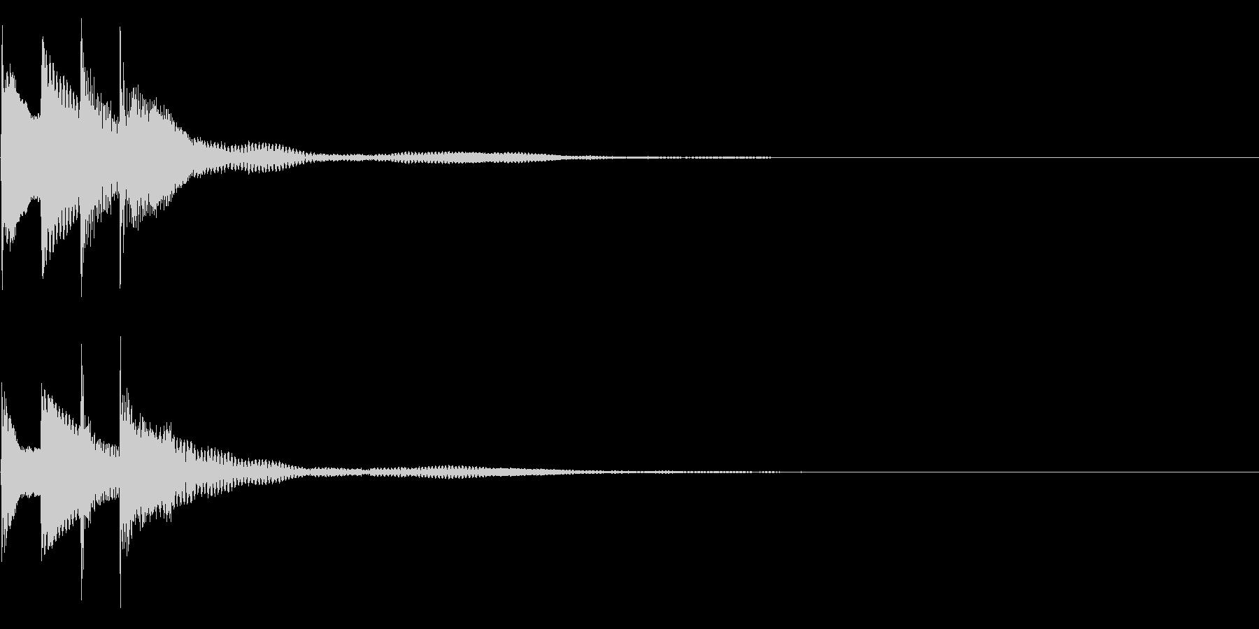 サウンドロゴ28_ピアノAHの未再生の波形