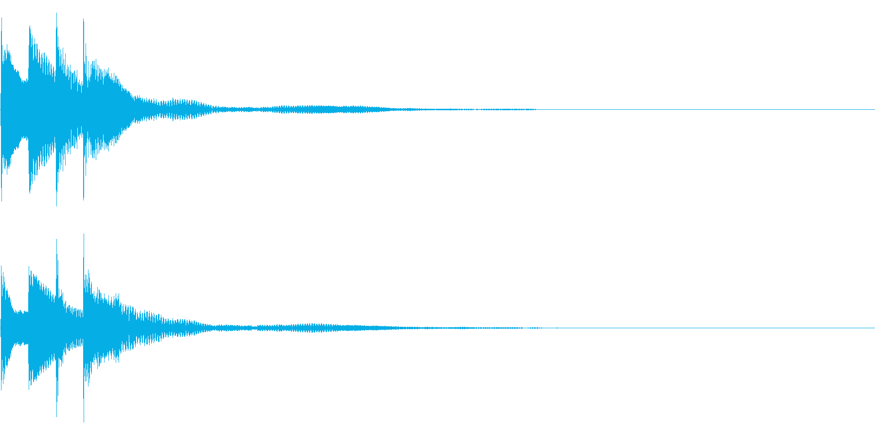 サウンドロゴ28_ピアノAHの再生済みの波形