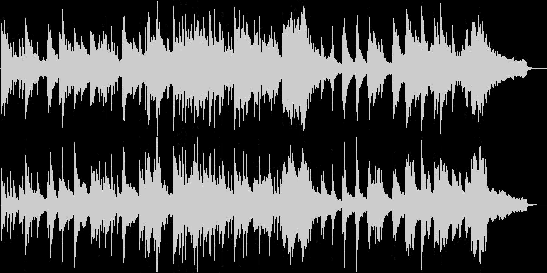 夜の光のような静かなピアノ楽曲の未再生の波形