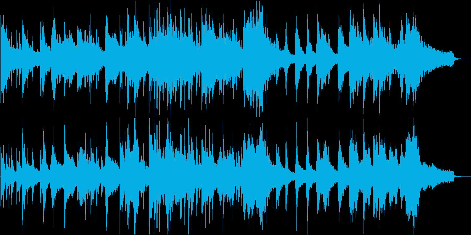 夜の光のような静かなピアノ楽曲の再生済みの波形