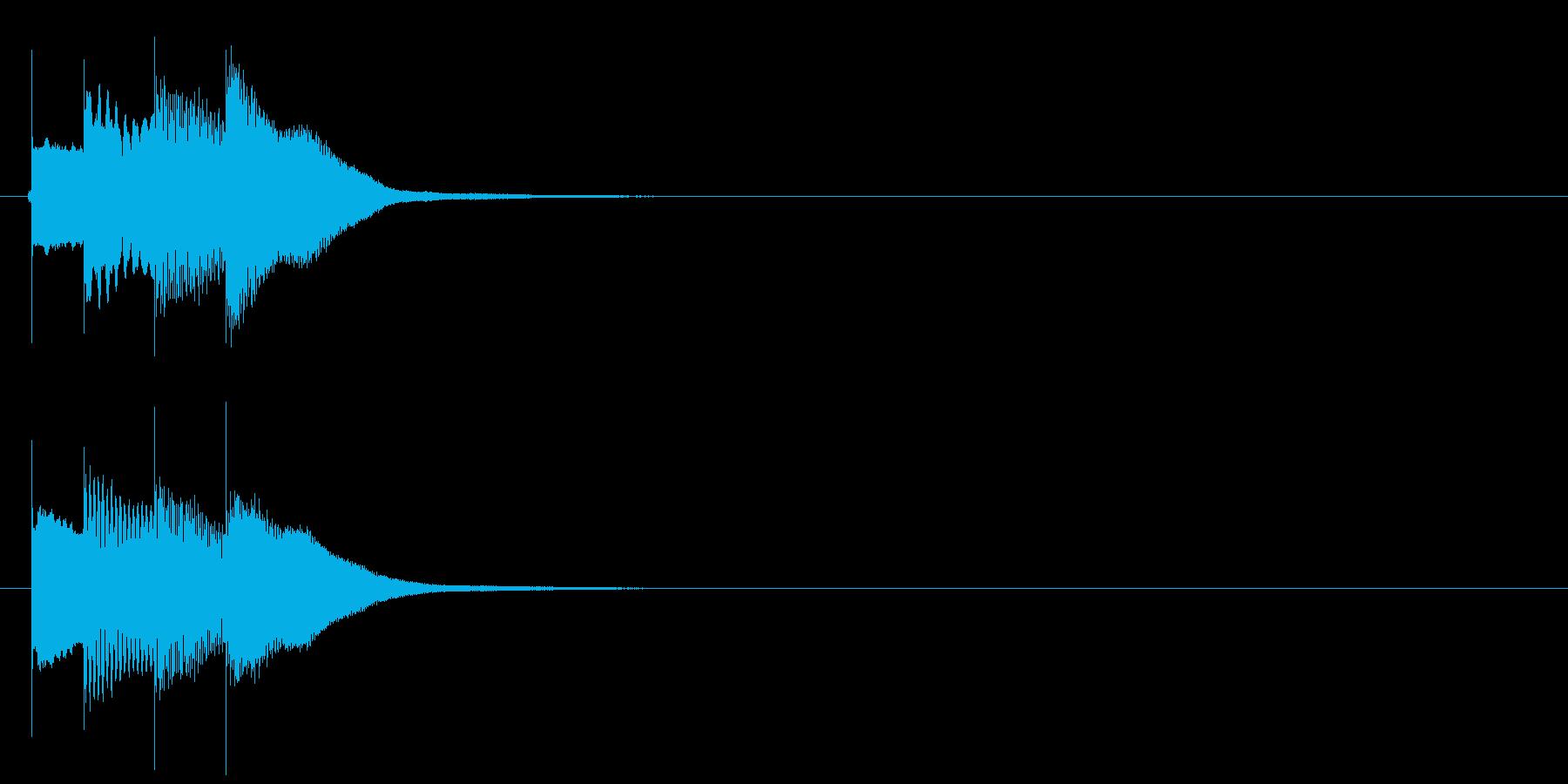 アラーム音03 グロッケンの再生済みの波形