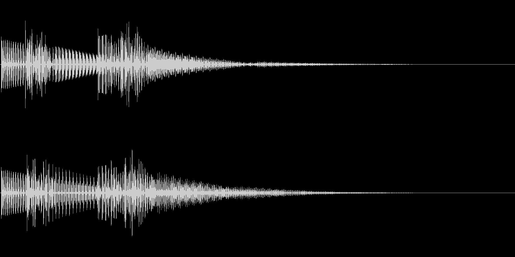 ポコッ(クリック_選択決定_04)の未再生の波形