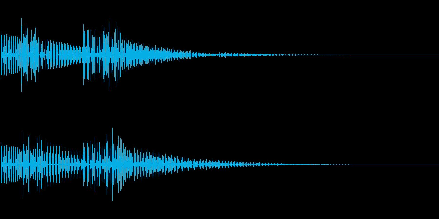 ポコッ(クリック_選択決定_04)の再生済みの波形