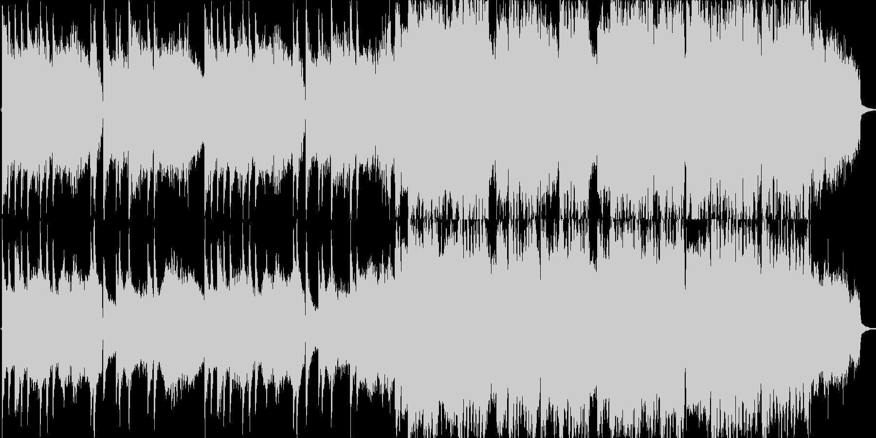 スローでやや切ない雰囲気のある和風BGMの未再生の波形