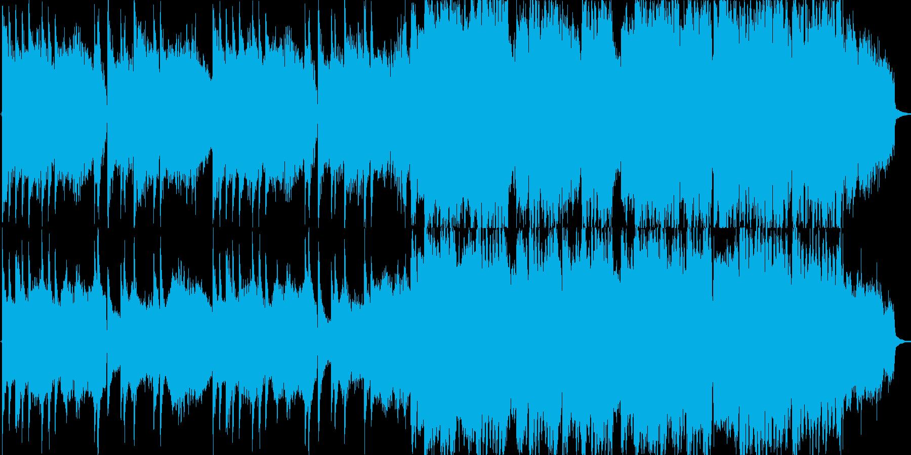スローでやや切ない雰囲気のある和風BGMの再生済みの波形