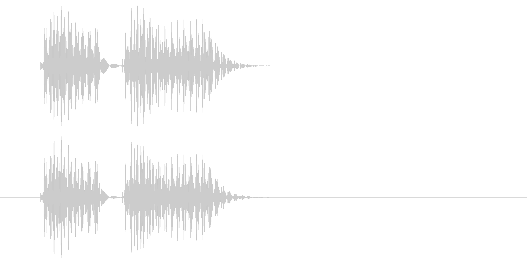 ボテ(低め)の未再生の波形