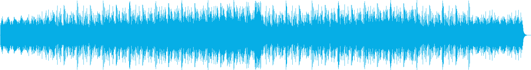 緊迫感があるシリアス曲の再生済みの波形