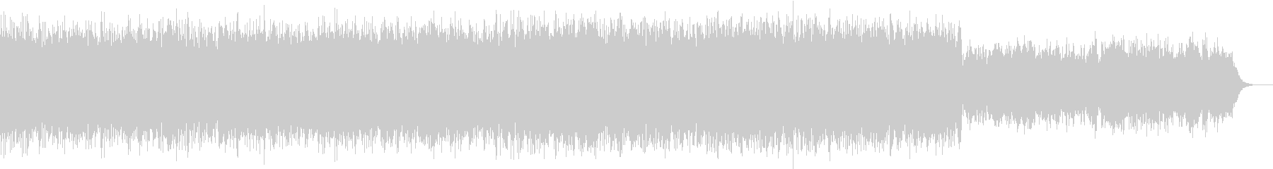 幻想的なアンビエントBGMの未再生の波形